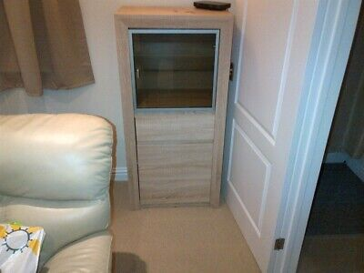 Display cabinet, glass & wood (light ash in colour) 1 year old