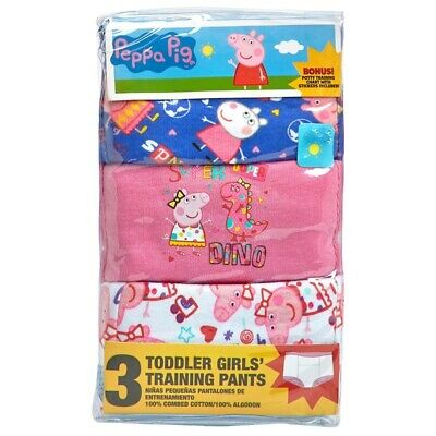 Peppa Pig Toddler Girls 3 Pack Potty Training Pants Underwear Size 3T