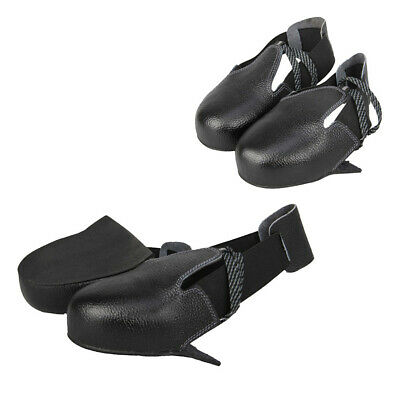 2 Pairs Leather Boot Cover Anti-slip Foot Protection Rubber Sole For Workers
