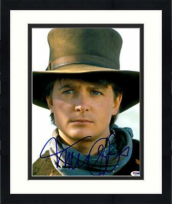 Framed Michael J Fox Signed 11x14 Back To The Future P3 Wearing Cowboy Hat Photo