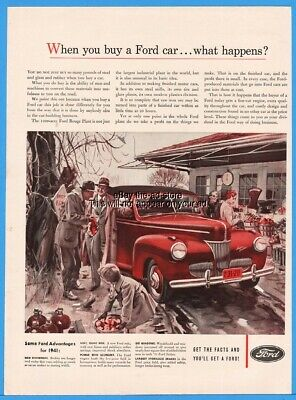 Ref. # 42138 1941 Ford Super Deluxe Coupe Factory Photo