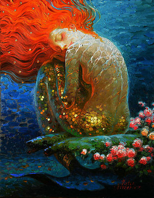 Home Decor HD Prints oil painting on canvas art for living room Mermaid NVN52