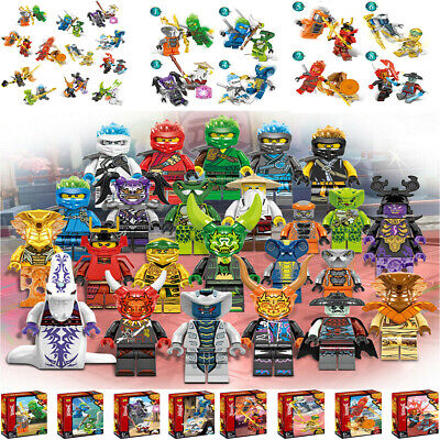 24Pcs Ninjago Mini Figures Kai Jay Sensei Wu Master Building Blocks Gift Toy AU