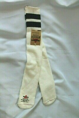 Vtg Wigwam Orlon Tube Socks Fits Size 11-17 Black Striped 7-Footer Very Cool!!