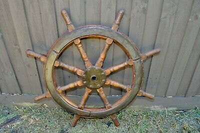 Antique Large Ship's Wheel
