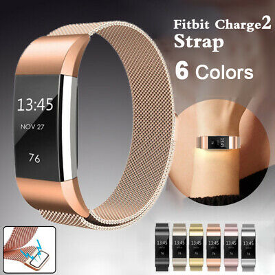 For Fitbit Charge 2 Band Metal Stainless Steel Milanese Loop Wristband Strap W