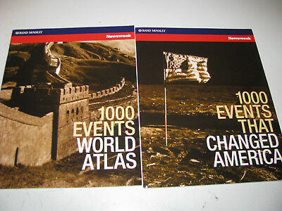 SET OF 2 RAND McNALLY NEWSWEEK 1000 EVENTS ATLAS & EVENTS THAT CHANGED AMERICA