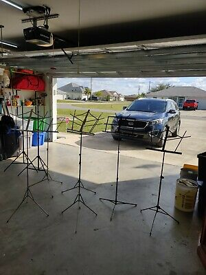 3 Pro Line and 3 On Stage Music Sheet Stands total of 6