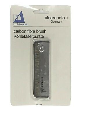 Clear audio Carbon Fibre Brush for cleaning vinyl records & removing static