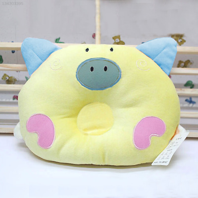 8FF9 Bedding Pillow Baby Sleepping Anti Roll Positioner Yellow Infant