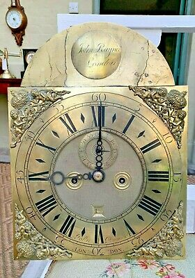 Antique Grandfather clock Brass Dial & 8 Day Movement