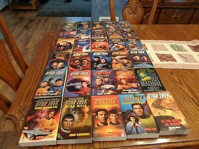 30 Star Trek Paperback Books Variety