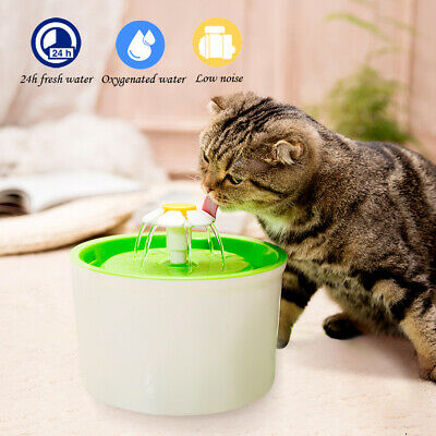 Eletric Automatic Pet Dog Cat Water Fountain Flower Drinking Dispenser Filter