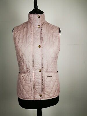 BARBOUR Rosé-Pink Puffer Body Warmer Size 12 Ideal for Horse Riding & Walking