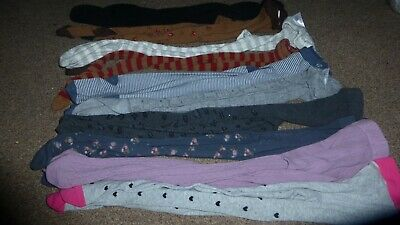 7 x NEXT & 3 x MARKS AND SPENCER TIGHTS GIRLS 5-6 YEARS BUNDLE OF 10 NEW