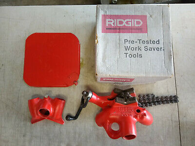 "RIDGID Model 560 1/8"" in. to 5"" in. Top Screw Stand Chain Pipe Vise USA"