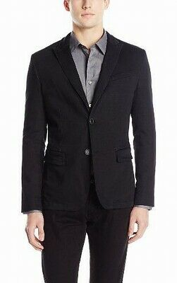 Perry Ellis Mens Suit Black 42 Two Button Notch-Collar Three Pocket $189 317