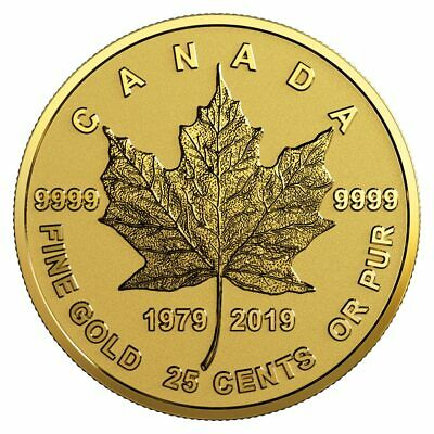 2019 25-Cent Pure Gold Coin 40Th Anniversary Of The Gml