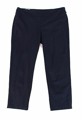Charter Club Womens Pants Navy Blue Size 22W Plus Tummy Control Slim $69 201