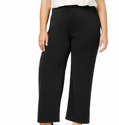 NY Collection Womens Pants Black Size 3X Plus Petite Casual Stretch $45 351