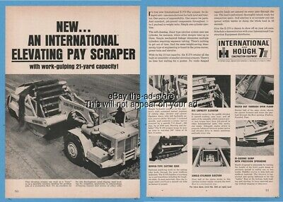 1965 International Harvester IH E-270 elevating pay scraper Hough Equipment Ad