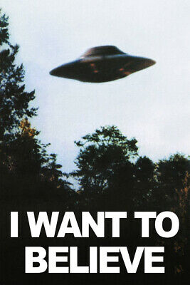 The X Files - I Want To Believe Alien UFO USA TV 36x24''  Poster