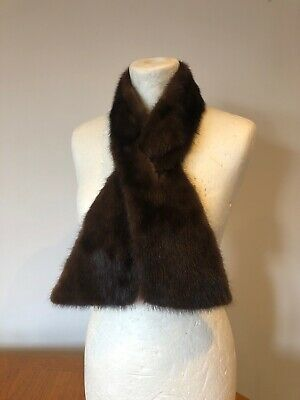 Vintage Nice Quality 1950s 1960s Real Fur Collar Scarf