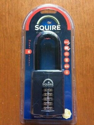 Squire - Cp60 - Padlock 60Mm Recodable Combination Padlock - Brand New & Sealed
