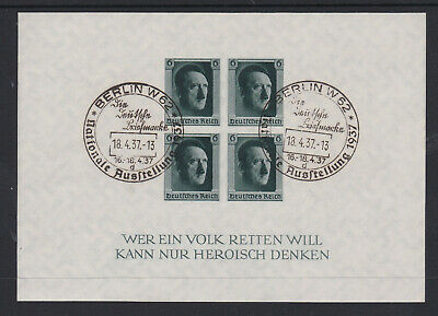 Germany 1937 Hitlers Culture Fund M/S Imperf