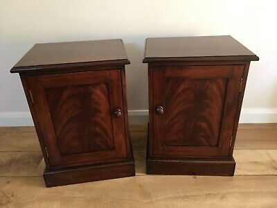 Pair victorian style mahogany bedside cabinets/cupboards
