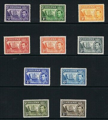 St.helena Sg. 131/7 Set To 1/- Mm Catalogue Value £25.