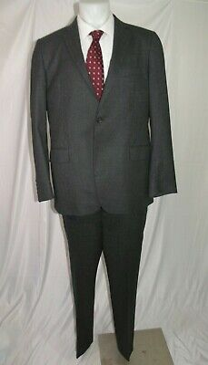 Brooks Brothers 1818 Fitzgerald Vitale Barberis Charcoal Two Button Suit 44L