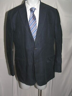 Brooks Brothers 1818 Fitzgerald Navy Blue Linen Cotton Two Button Blazer 43L
