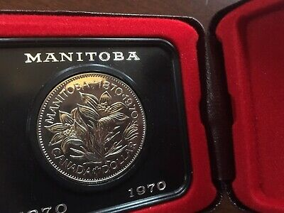 Canadian Commemorative One Dollar Manitoba Coin - 1870/1970 - Original Box