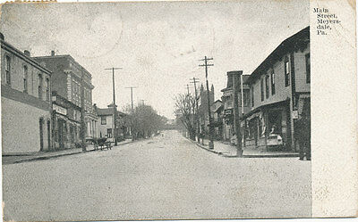 Meyersdale PA * Main St. 1907 *Somerset Co. * Marion  H.R. Brechbill Franklin Co