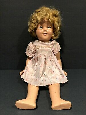 "Vintage 1930's Ideal Shirley Temple Composition Doll 18"" HARD TO FIND VERY RARE!"