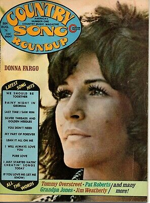 Country Song Roundup Magazine August 1974 Donna Fargo Barbara Mandrell Fender
