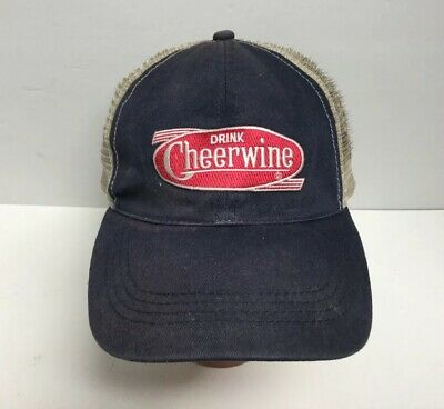 Vintage Cheerwine Hat Spellout Logo snapback Baseball Cap Mesh Back