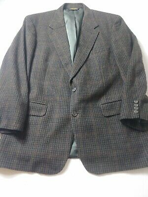 Brooks Brothers Mens Sport Coat Size 43R Brown Check 100% Camel Hair 2 Button