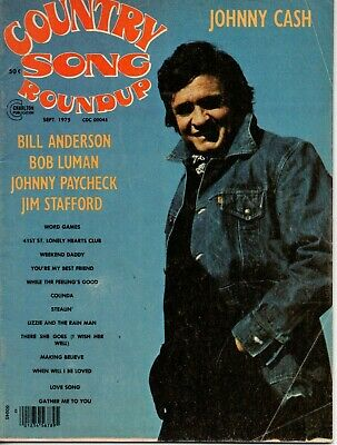 Country Song Roundup Magazine September 1975 Johnny Cash Paycheck Jim Stafford