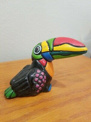 "Best Toucan Bird Figure Statuette 4 x 5"" pottery"