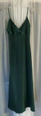 NEW Victoria's Small Black Long Satin Nightgown Gown Lady S Woman Slit Elegant