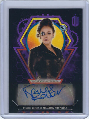 Frances Barber as Madame Kovarian Purple Autograph Card - Doctor Who - 9/10