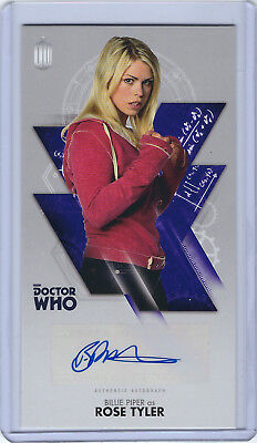 Billie Piper as Rose Tyler Autograph - Dr Who Widevision Tenth Doctor Adventures