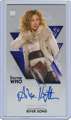 Alex Kingston as River Song Autograph - Doctor Who Widevision - Topps
