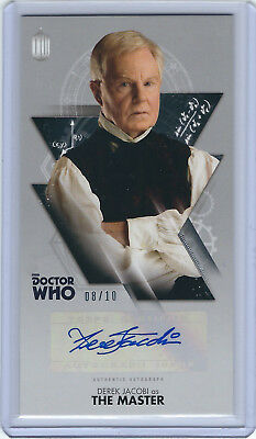 Derek Jacobi as The Master Autograph - Doctor Who Widevision - 08/10 - Topps