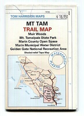 Tom Harrison Trail Map MT TAM California 2002 John Muir Golden Gate Marin County