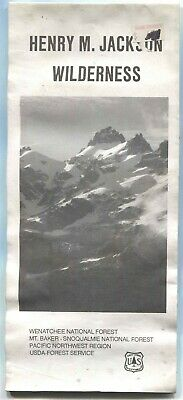 USDA National Forest Service Map HENRY M JACKSON Wilderness - Wenatchee Mt Baker