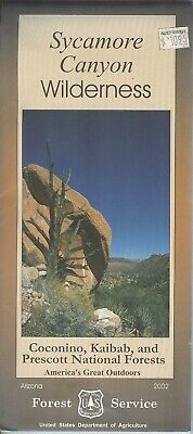 USDA National Forest Service map SYCAMORE CANYON Wilderness Arizona 2002