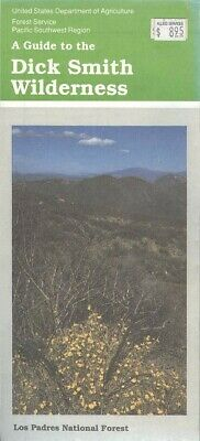 USDA National Forest Service map DICK SMITH Wilderness Las Padres NF - CA 1990